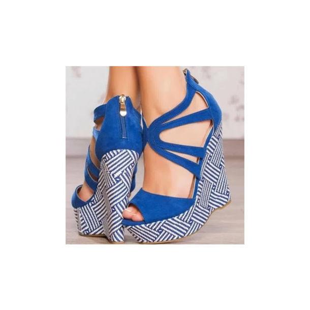 shoes blue platform shoes navy blue shoes wedges wedge sandals sandals open  toes fabulous fashion lovely 10af232308