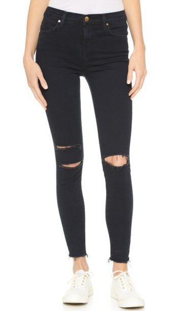J Brand High Rise Alana Crop Jeans - Blue Mercy