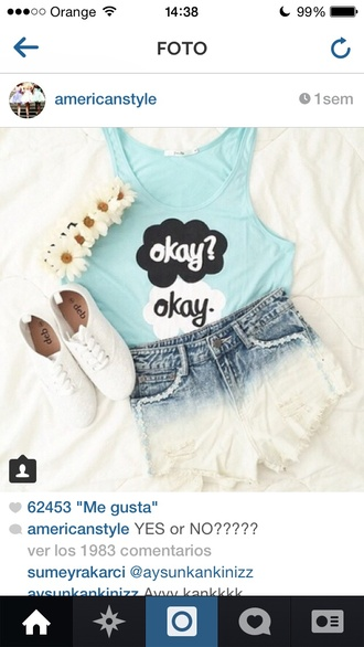 jewels shoes t-shirt the fault in our stars john green okay? okay. tfios tfios shirt baby blue okay hair accessories