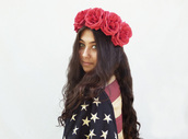 hair accessory,rose headband,flower crown,rose crown,flower headband,july 4th,july lookbook