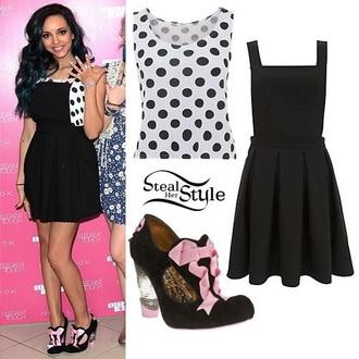 dress jade thirlwall polka dots black dress