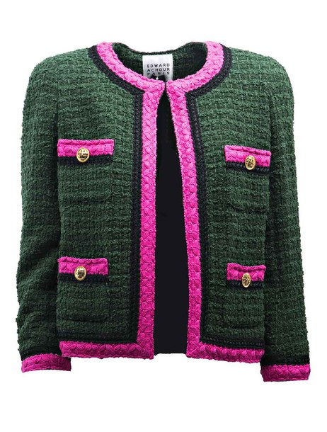 Edward Achour jacket embroidered jacket embroidered green