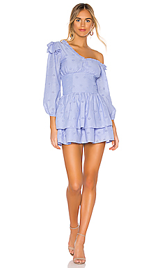 090fddb925ce MAJORELLE Oliver Mini Dress in Periwinkle Blue from Revolve.com