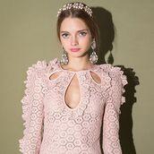 dress,alice mccall magic dress,pink dress,corchet dress,girly dress,girly pink dress,cute dress,pixiemarket,alice mccall