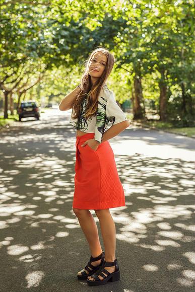 blogger jewels sunglasses shoes bag blouse top iemmafashion skirt jeans jacket