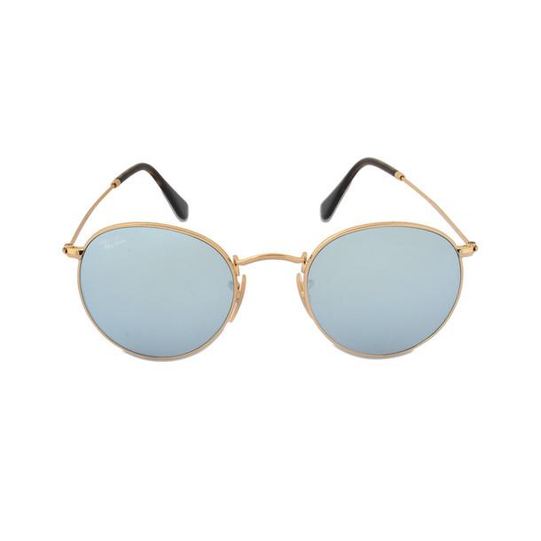 Ray-Ban 0RB3447 Sunglasses in Blue Metal in metallic