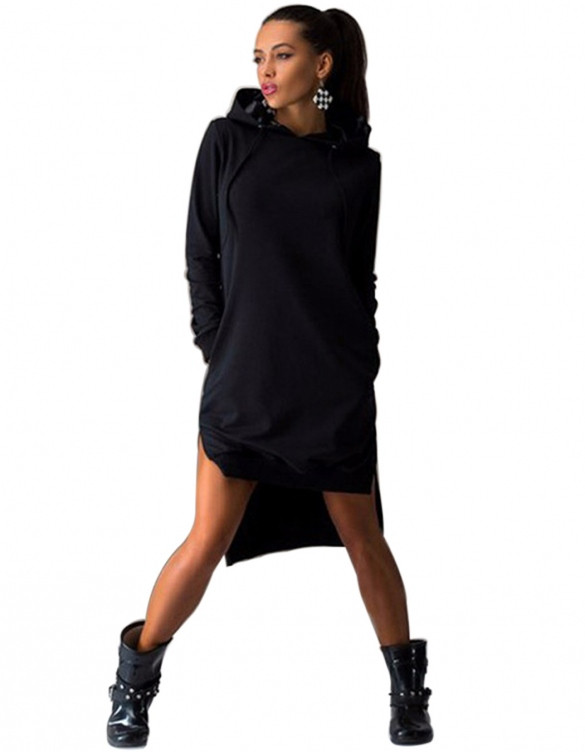 Eeezy Hoodie Sweatshirt Dress – Outfit Made