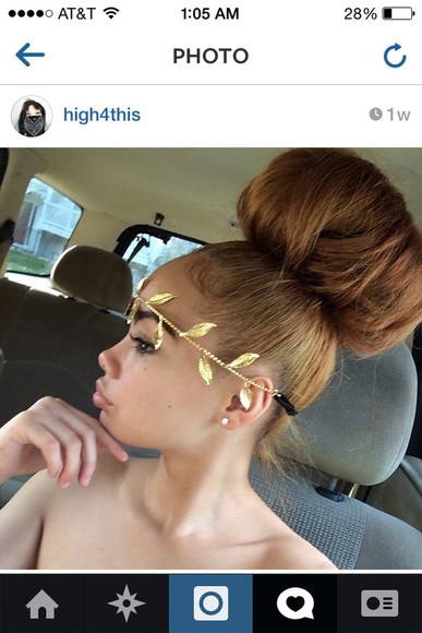 rose gold cute hair accessories Bun crown headband flower headband headband gold