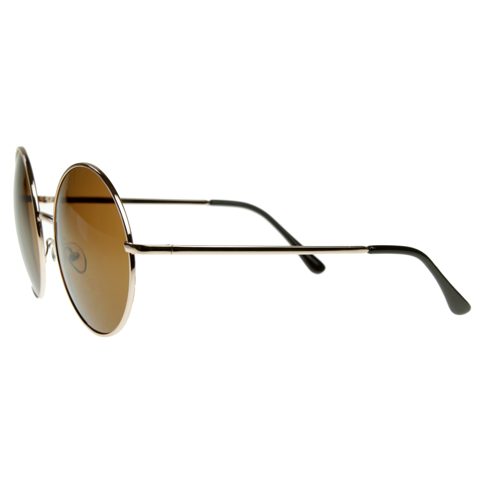 Trendy Vintage Inspired Large Oversize Full Metal Round Circle Sunglasses 8370 | eBay