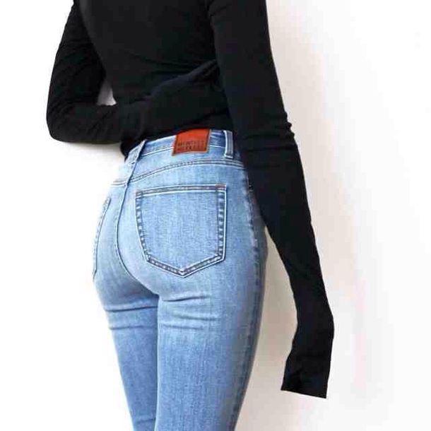 jeans blue skinny denim light comfy cozy caual