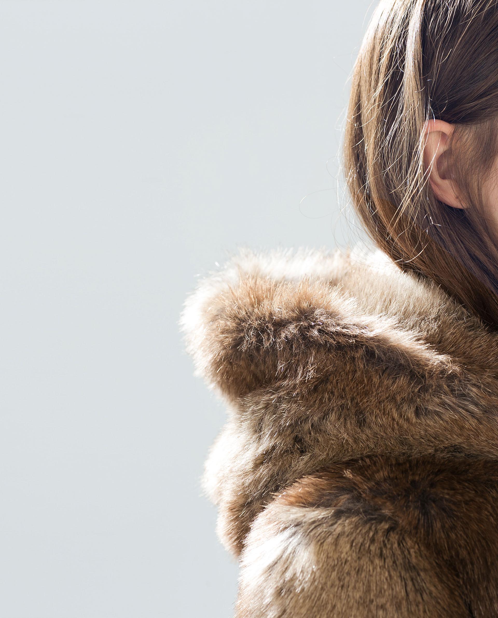 Jacket with fur hood