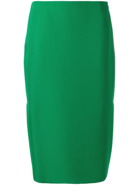 MARNI skirt pencil skirt women silk green