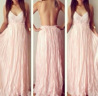 beauty shopping stylish pretty model pink dress girly long pink blush dress open back dress blush pink dress prom dress dress