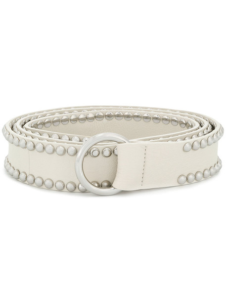 B-Low The Belt studded women belt leather white