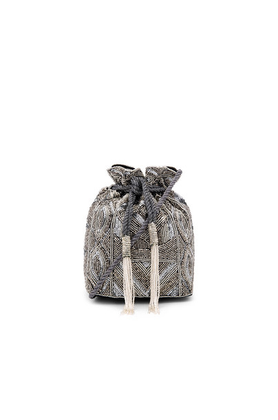 Aspiga bag pouch metallic silver