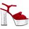 Saint laurent 'candy 80' bow sandals, women's, size: 36, red, velvet/leather