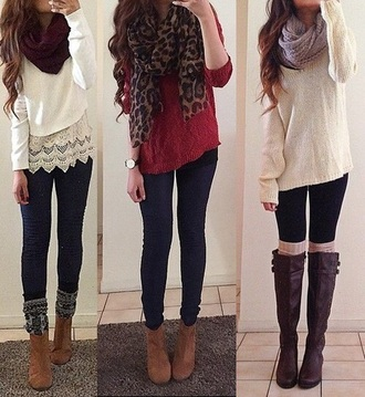 sweater boots brown brown leather boots