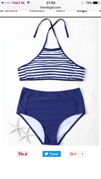 swimwear blue bikini summer beach fashion green trendsgal.com