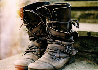 brown brown shoes boots shoes leatherboots leather brown leather buckles combat boots vintage boots vintage
