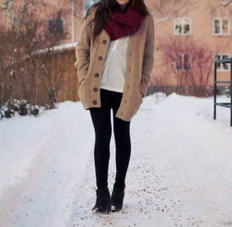 sweater cardigan scarf cute winter outfits winter sweater