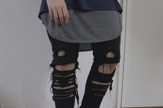 jeans ripped distressed jeans