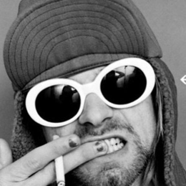 47f57a0d2486 sunglasses, kurt cobain, white, round sunglasses, sunnies ...