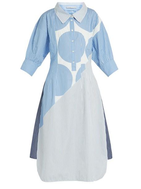 Stella McCartney shirtdress cotton print blue dress