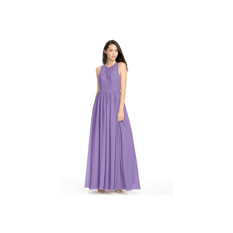 Tahiti Azazie Jewel - Floor Length Scoop Chiffon Illusion Dress - Cheap Gorgeous Bridesmaids Store