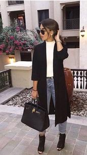 coat,long black coat,white turtle neck,black heels,wool coat,black,cardigan,winter coat,long coat,drapedcoat