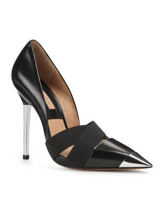 Michael Kors Ana Metal-Cap-Toe Strappy Pump - Michael Kors