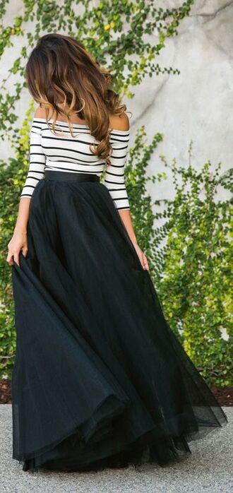 blouse tulle skirt skirt