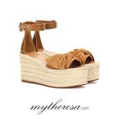 shoes,Valentino,mytheresa,ankle strap,summer,summer sandals,flatform sandals,valentino shoes,suede sandals heels