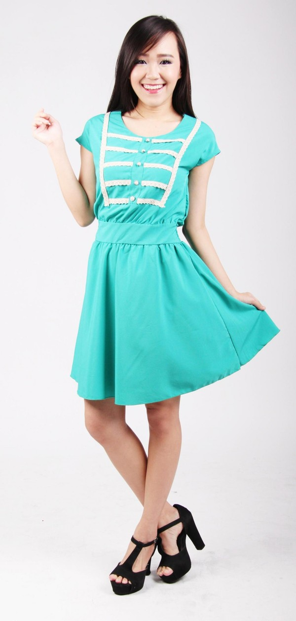dress women turquoise blue