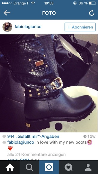 shoes boots boots with spikes and cheetah print boots black chelsea boots biker boots spikes gold sequins black and gold leather jacket leather boots leather black leather tumblr outfit tumblr shoes girly grunge edgy