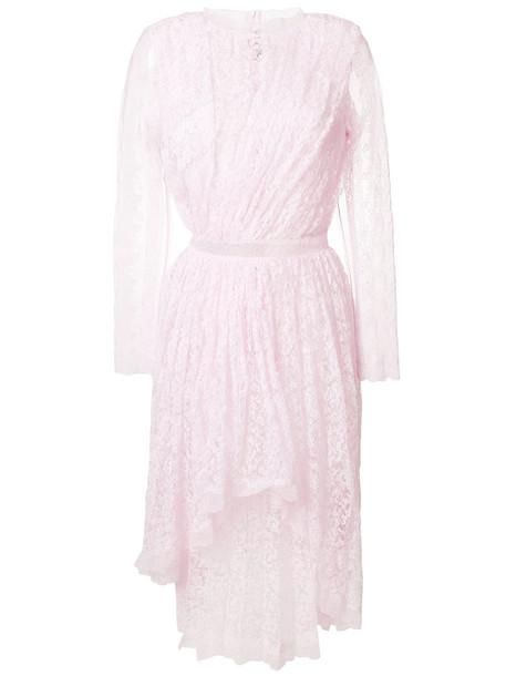 Ermanno Scervino dress midi dress embroidered women midi lace purple pink