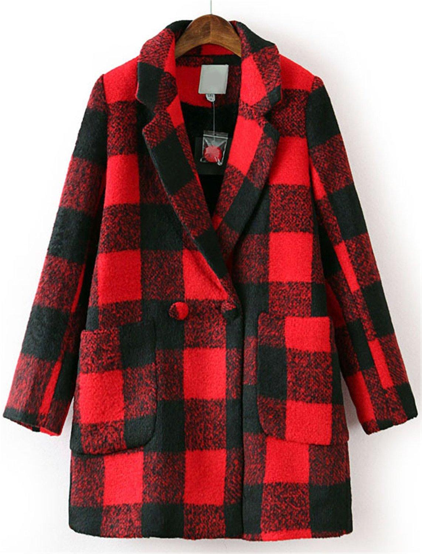 Womens plaid coat