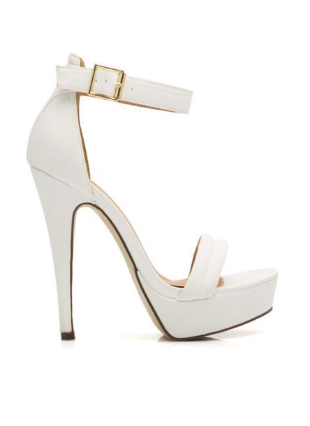 shoes white platform heels