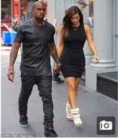dress,kim kardashian,kanye west,little black dress,high heels,beautiful,shoes,jewels,shirt,heels,style,dope,all black everything,menswear