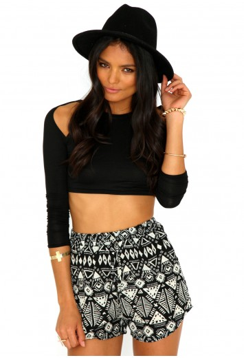 Carla tribal print shorts