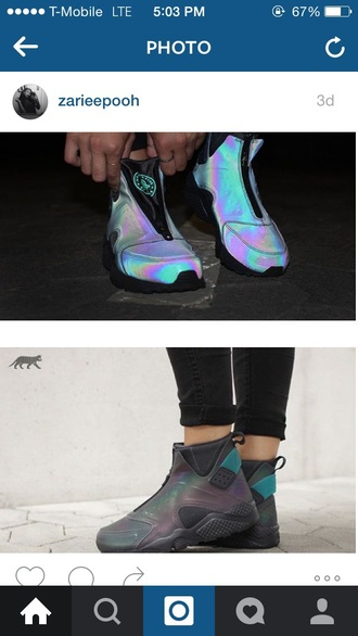 shoes nike reflective zip-up