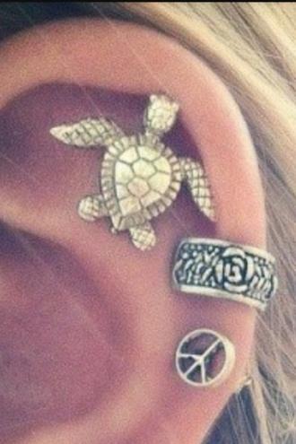 jewels earrings piercing piercings turtle earring style sea