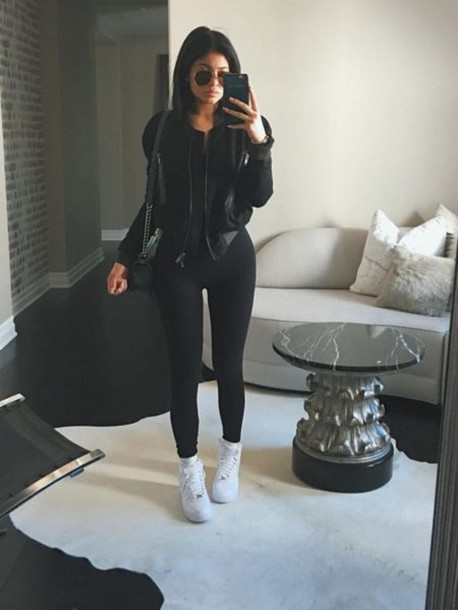Jacket leggings kylie jenner instagram fall outfits ...