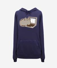Blogger Pusheen hoodie (unisex) - Hey Chickadee