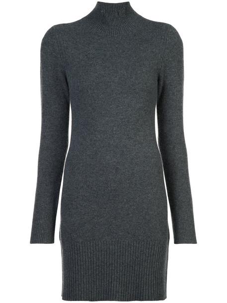 Frame Denim dress sweater dress women turtle grey