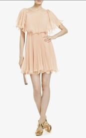 dress,beige,horizontal-neck,beige dress