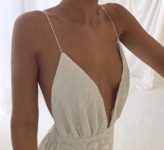dress white top jumpsuit spaghetti strap sequins