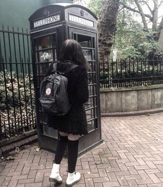 bag black indie grunge backpack