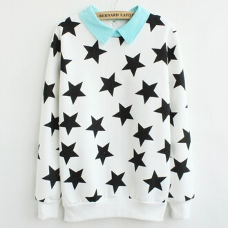 sweater stars white sweater