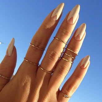 nail polish white nails kylie jenner kylie jenner nails nail art ring knuckle ring jewels gold finger rings negative space nail art