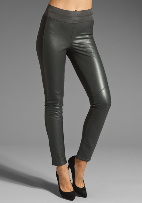 DENIM Paloma Leather Legging in Phantom Grey at Revolve Clothing ...
